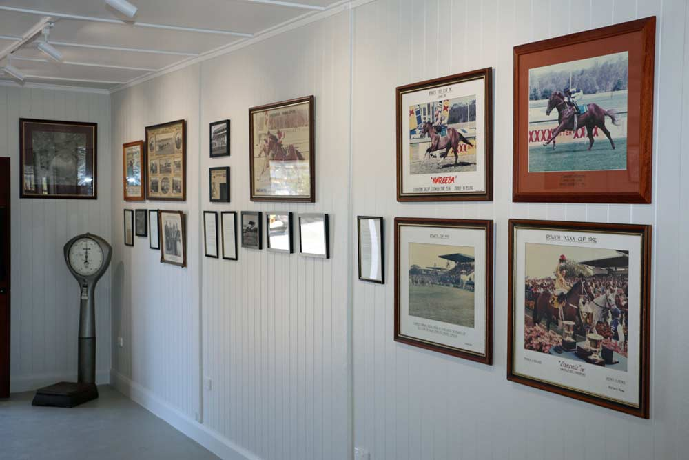 Inside today's Museum at Ipswich Turf Club